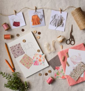 sewing craft accessories laying