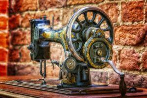 vintage hand sewing machine